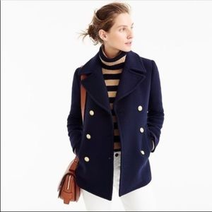 JCrew Majesty Stadium Cloth Peacoat
